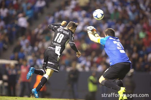 PUEBLA, PUE, MEXICO. NOVEMBER 18th: Flavio Santos of Puebla during the friendly match between Puebla and Boca Juniors as reopening of the stadium Cuauhtemoc, held at Cuauhtemoc stadium, in Puebla city, Puebla, Mexico.(PHOTO BY VICTOR STRAFFON/STRAFFON IMAGES/MANDATORY CREDIT/EDITORIAL USER/NOT FOR SALE/NOT ARCHIVE)